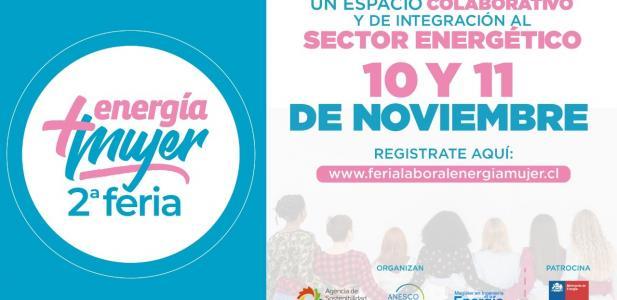 Segunda feria Energía +Mujer se realizará el 10 y 11 de noviembre en versión virtual