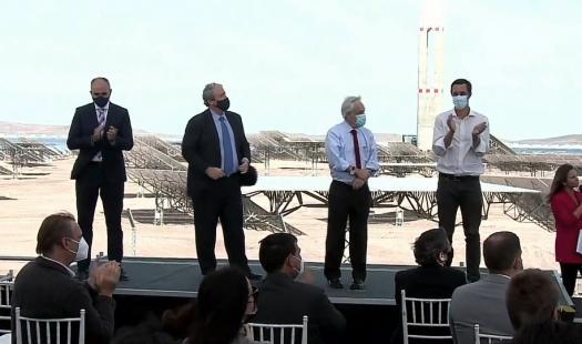 Inauguración de Cerro Dominador:  Chile mantiene liderazgo internacional en energías limpias con la inauguración de la primera planta termosolar de América Latina