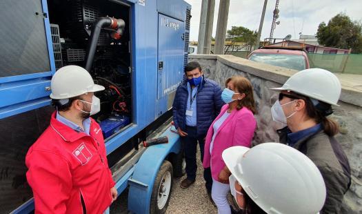 Trabajo entre Seremi de Energía,  Municipio de La Higuera y CGE concreta  instalación de generador en Punta de Choros