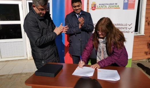 Vecinos de Santa Juana se adjudican FAE para instalar panel fotovoltaico