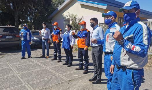 Trabajadores del sector de energía del Biobío acceden a inoculación contra Covid-19