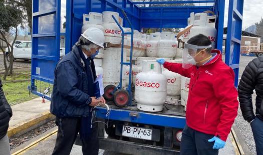 Seremi de Energía y Director Regional SEC fiscalizan en la región de O´Higgins entrega de cilindros de gas en periodo de Pandemia