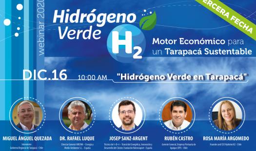 Ciclo de webinars posiciona a Tarapacá como estratégica para producir Hidrógeno Verde