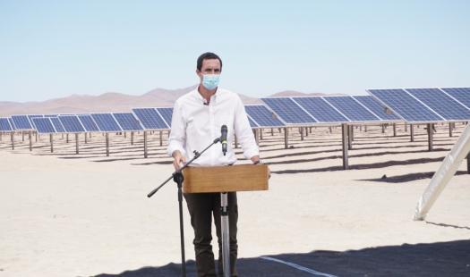 Biministro Juan Carlos Jobet da inicio a la operación de ENAMI con 100% energías limpias