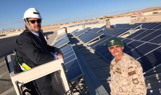 Regimiento Reforzado N°1 Calama, cuenta con sistema fotovoltaico  y genera su energía gracias al sol