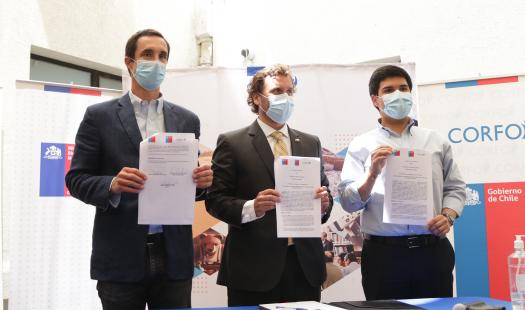 Ministerios de Energía, Bienes Nacionales y Corfo firman convenio de colaboración para impulsar en terrenos fiscales proyectos de hidrógeno verde