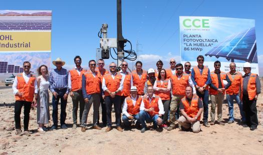 Inician construcción del parque fotovoltaico La Huella en La Higuera