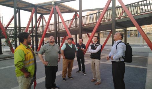 Nueva visita inspectiva a alumbrado peatonal realizaron profesionales de Energía, SEC, GORE y Municipalidad de Arica