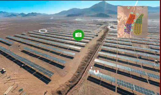 Estudiantes realizan recorrido virtual por proyecto solar fotovoltaico que se construye en Copiapó