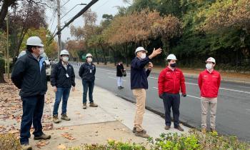 Ministro (s) de Energía y Superintendente SEC fiscalizan poda de árboles ante anuncio de lluvias