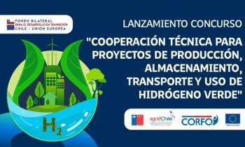 Chile y la Unión Europea impulsan concurso para estudios de preinversión de proyectos de hidrógeno verde