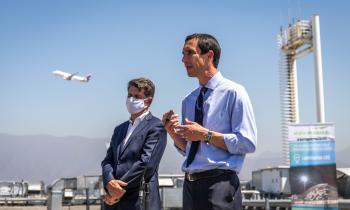Ministro de Energía Juan Carlos Jobet: Ministerio de Energía y Nuevo Pudahuel lanzan plan para incorporar hidrógeno en el aeropuerto de Santiago
