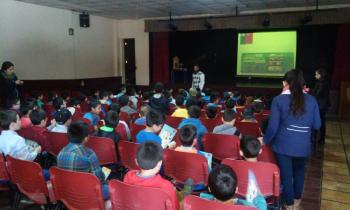Niños recibieron consejos sobre el buen uso de la energía