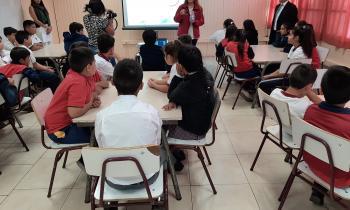 """Seremi de Energía difundió el """"Día Mundial de la Eficiencia Energética"""" a estudiantes de Quinto Básico"""