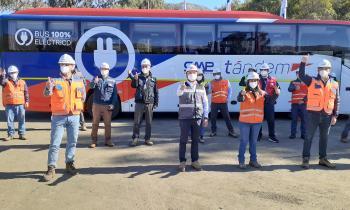 Seremi de Energía participa en lanzamiento de buses eléctricos en faenas de CMP