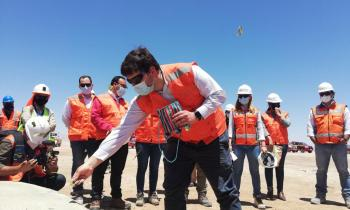 Reactivación económica de la región de Antofagasta:  Subsecretario de energía y autoridades regionales visitan parque eólico Tchamma para conocer estado de avance
