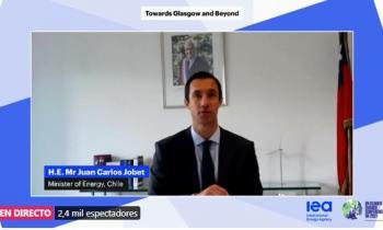 Ministro Jobet destaca avances de Chile hacia las energías limpias en reunión de líderes internacionales