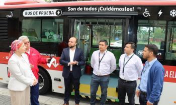 Bus eléctrico continúa con pruebas para evaluar puesta en marcha en la Región