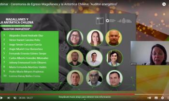 Egresan los primeros 20 de Auditores Energéticos de Magallanes tras seis meses de intensa formación académica
