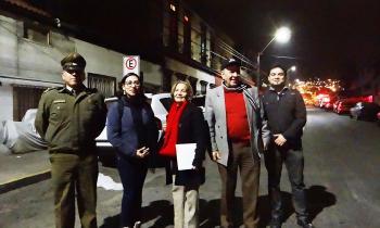 Con trabajo colaborativo con vecinos y carabineros Gobierno inicia trabajo de recambio de Alumbrado Público LE...