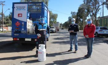 Seremi de Energía y director de SEC Atacama fiscalizan entrega de cilindros de gas en pandemia