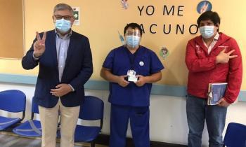 Seremi de Energía junto al alcalde de Fresia participan en inicio del proceso de vacunación contra el COVID 19 en la comuna