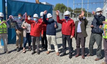 Frontel inaugura respaldo que bajará la cantidad de horas sin sumnistro en Lumaco