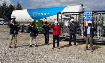 Autoridades de Energía visitan Estación de Carga para primer Camión de Transporte de ENAP que utiliza Gas Natu...