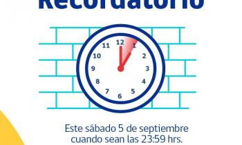 Este domingo comienza a regir el horario de verano