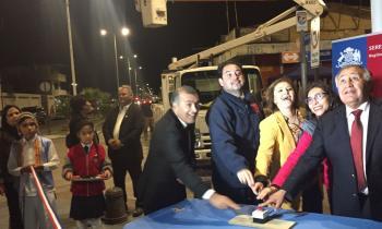 Autoridades inauguraron luminarias públicas  LED en Mejillones