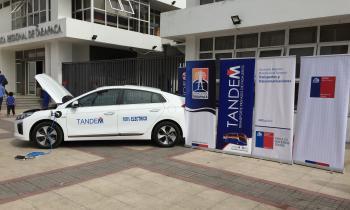 Presentan primer auto eléctrico que circulará en Iquique