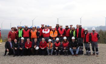 Presidente Piñera visitó obras del Parque Eólico San Gabriel