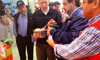 Ministro de Energía y SEC fiscalizan venta de guirnaldas navideñas certificadas