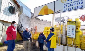 """Seremi de Energía y Director SEC Aysén encabezan fiscalización de entrega de """"balones de gas"""" en pandemia"""