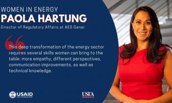 Paola Hartung es homenajeada como la #WomenInEnergy del mes por la United States Energy Association