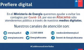Seremi de Energía Atacama pone a disposición plataformas digitales para consultas y trámites