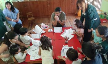 """Niñas y niños del Jardín """"Mi pequeña Academia"""" disfrutan de actividad para cuidar la energía"""