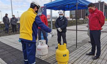 """Seremi de Energía y SEC verifican medidas para la entrega segura de """"gas en balones"""" en medio de Covid-19"""