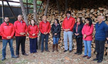 Se inauguró Centro de Acopio y Secado de leña que permitirá contar con 1000 mts3 anuales de leña seca