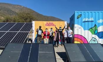 Subsecretario López visita innovador proyecto que genera agua potable con energías renovable