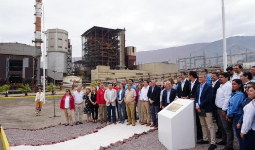 Ministro Jobet y Enel encabezan cierre simbólico de Central Tarapacá y comparten con trabajadores que se acogieron a plan de reconversión laboral