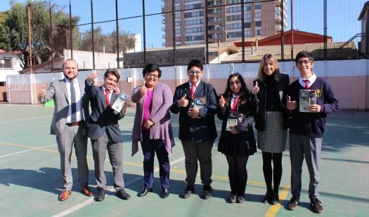 """Alumnos del Liceo Insuco de Coquimbo ganan concurso """"Cambia el Foco Suma Buena Energía"""""""