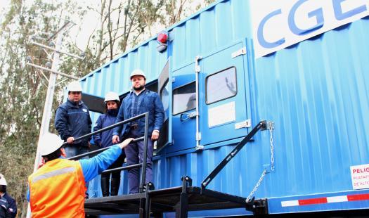 SEREMI de Energía y CGE disponen de generadores para asegurar suministro de eléctrico en la Región