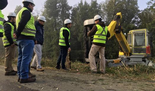 Autoridades monitorean trabajos de poda de líneas eléctricas enmarcados en Plan Invierno