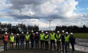 Autoridades visitan obras del Parque Eólico Aurora que abastecerá de energía a más de 100 mil hogares