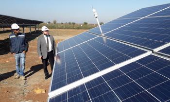 Constatan avances de construcción de planta fotovoltaica Amparo del Sol