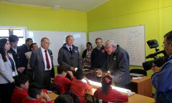 Con recambio de luminarias LED Energía y Medio Ambiente celebraron Día de la Eficiencia Energética
