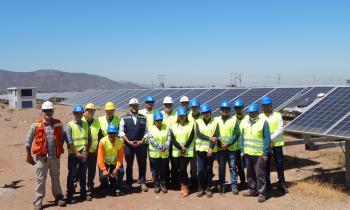 Estudiantes de CFT Región de Coquimbo conocen planta fotovoltaica en Ovalle