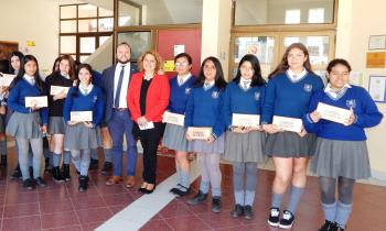 Benefician a comunidad escolar del Colegio Marta Brunet de La Serena con ampolletas LED