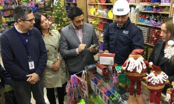 Autoridades fiscalizaron venta certificada de artefactos eléctricos navideños